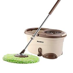 Oshang EasyWring Spin Mop and Bucket - Hand-Free Wringing Fl
