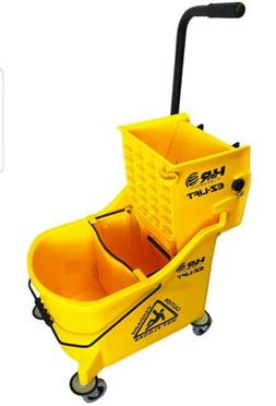 Hero EZ-LIFT Dual Cavity Commercial Mop Bucket with Wringer