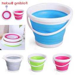 Fashion 3/5/10L Folding Silicone Collapsible <font><b>Bucket