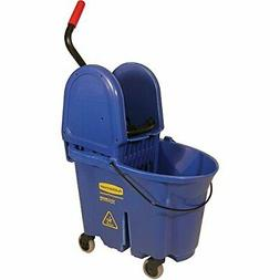 RUBBERMAID FG757888BLUE Mop Bucket and Wringer, 35 qt., Blue