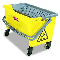RUBBERMAID FGQ90088YEL Mop Bucket and Wringer, 28 qt, Yellow