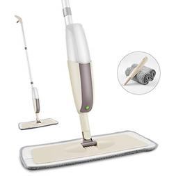Floor Mop with a Refillable Bottle and 2 Washable Pads Home