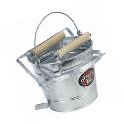 Behrens Galvanized Mop Bucket with Rollers, 3-Gallon