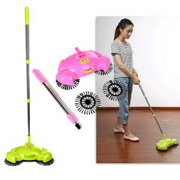 Hand Push Rotating Sweeping Brooms Sweeper Cleaner Room Floo
