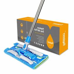 HAPINNEX Hardwood Dust Microfiber Floor Mop - 4 Washable & R