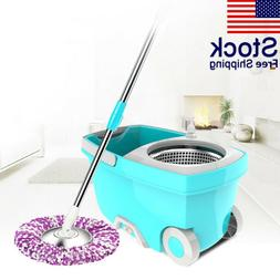 Home Stainless Steel Microfiber 360 Rotating Mop And Bucket