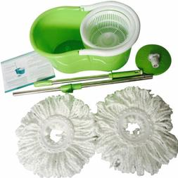 Household Floor Cleaning System 360 Degree Spin Mop W/ Bucke