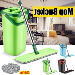 Household Self Cleaning Drying Wringing Mop Bucket Kit Flat
