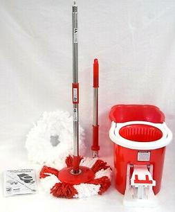 Hurricane 360 Spin Mop by BulbHead - Foot-Operated Washer/Dr