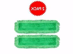 "2-pack of 18"" Inch Green Fringe Microfiber Dust Mop Pads for"