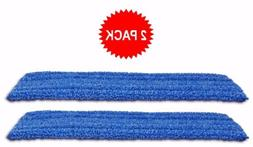 """2-pack of 18"""" Inch Premium Microfiber Wet Mop Pads for Profe"""