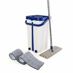 Kitchen + Home Mop and Bucket - Self Cleaning Flat Mop Bucke