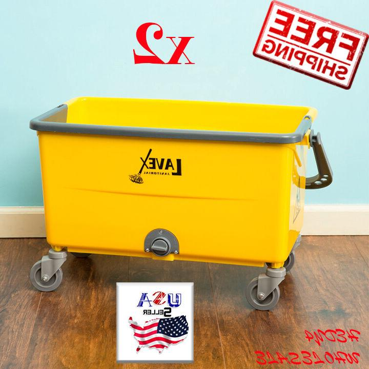 2 set janitorial 44 quart no touch
