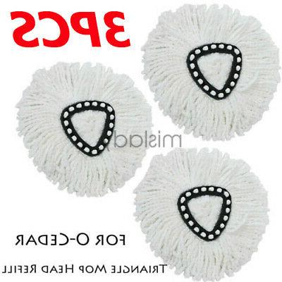 3 pcs mop head refill replacement