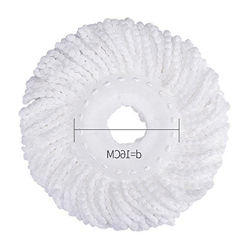 3 Replacement Mop Micro Head Hurricane for 360° Replacement Mop Standard Size