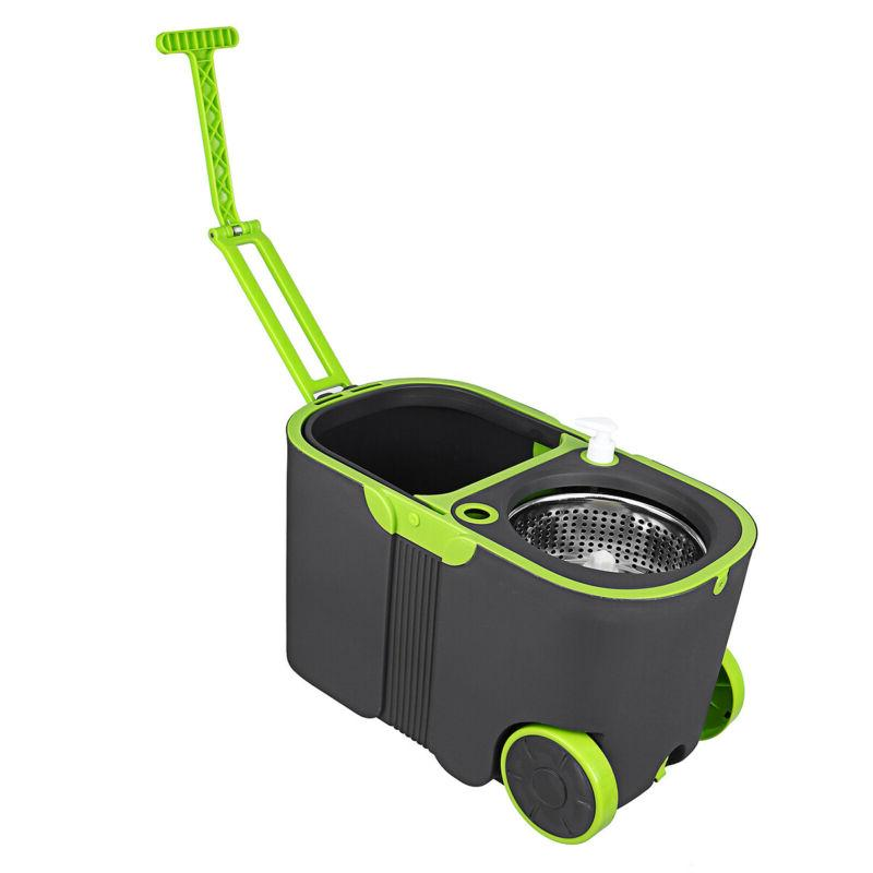 360 Floor Mop Rotating With Wheels Home Tools