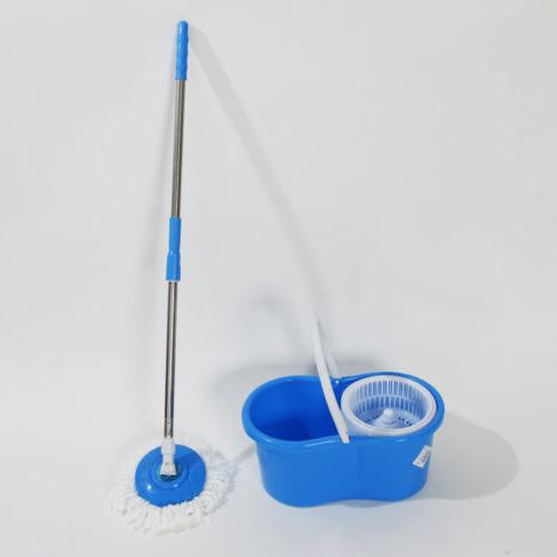 360°Rotating Magic Floor Bucket 2x Head Spinning