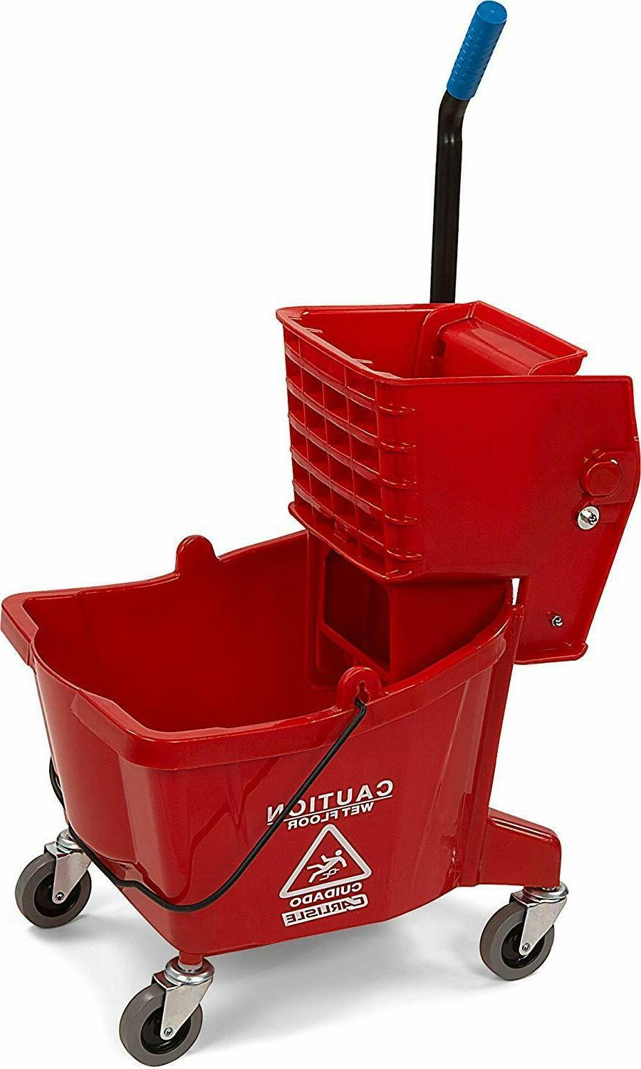 3690805 commercial mop bucket with side press