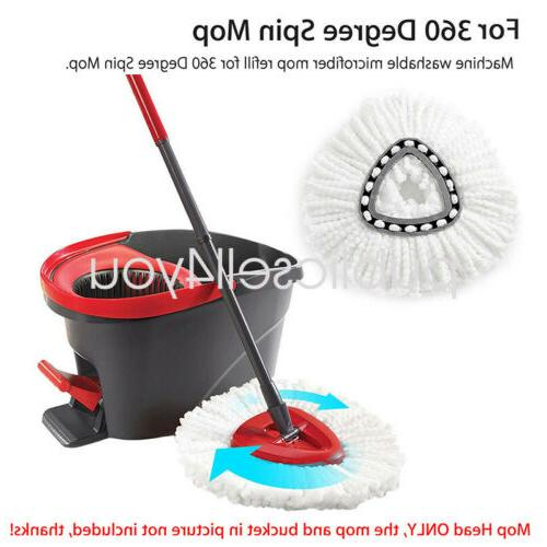 4Pc Easy Home Cleaning Mopping Wring Spin Refill US