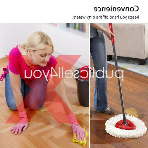 4Pc Replacement Home Cleaning Mopping Wring Spin US