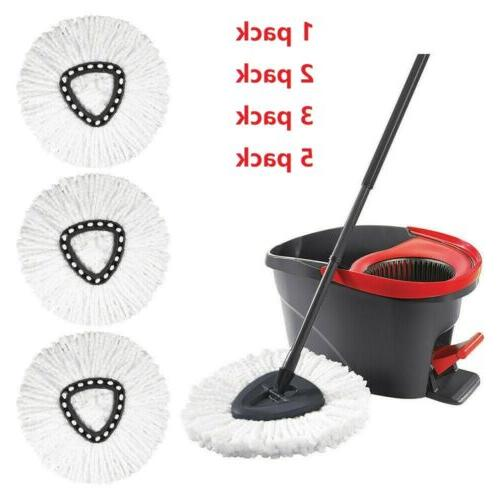 4x replacement heads easy cleaning mopping wring