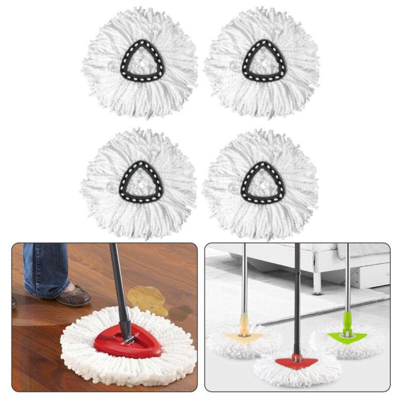 4x replacement microfiber mop head easy clean