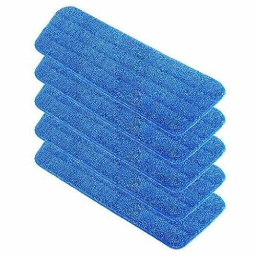 5 Pack Mop Pads Head Wet Mops Refill for Flat