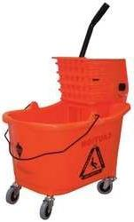 Mop Bucket and Wringer, 8-3/4 gal., Orange