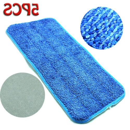 5Pcs Blue Pads Wet Dry Mops For 15""