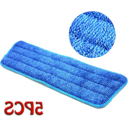 "5Pcs Blue Pads Head Mops Refill For 15"" Flat Base New"