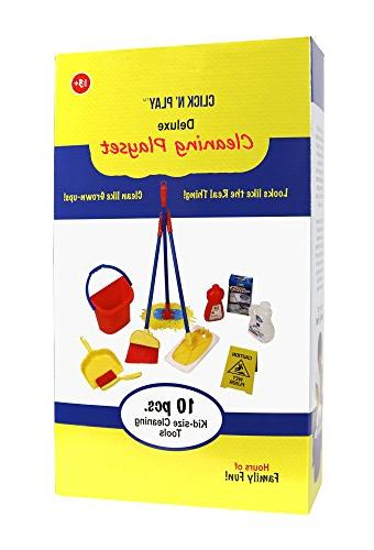 Click n' Play Piece Pretend Cleaning Cleaning Sign, Brush