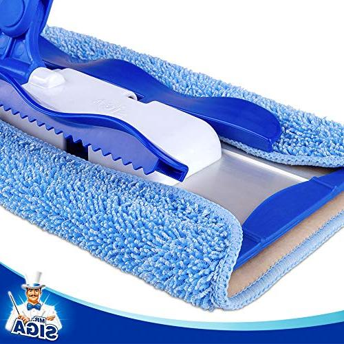 MR. Professional Microfiber Mop,Stainless Handle - Pad Refills and