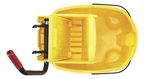 Rubbermaid Commercial WaveBrake Mopping System Bucket and Side-Press Combo, Yellow