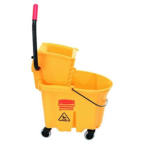 Rubbermaid Commercial Products Mopping System Bucket Side-Press Yellow