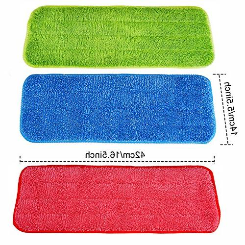 Shappy Mop Pads Mops and Reveal Washable 16.5 Inch, 3 Pieces
