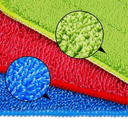 Shappy Microfiber Cleaning Pads for Spray and Reveal Mops 16.5 x 5.5 Inch, 3