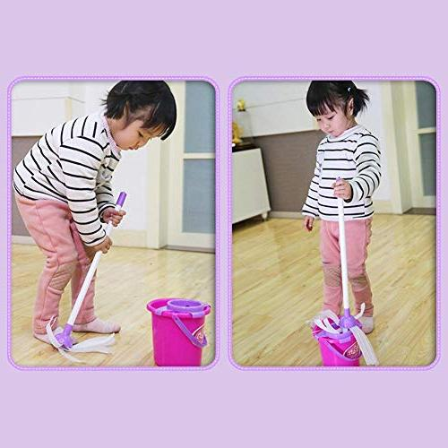 Samber Cleaning Playset Children Little Helper Cleaning Set Home Appliances Trolley Cleaning