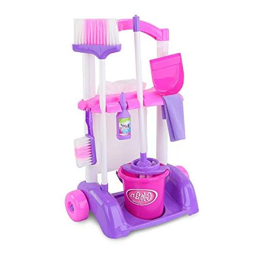 cleaning trolley playset toy pretend