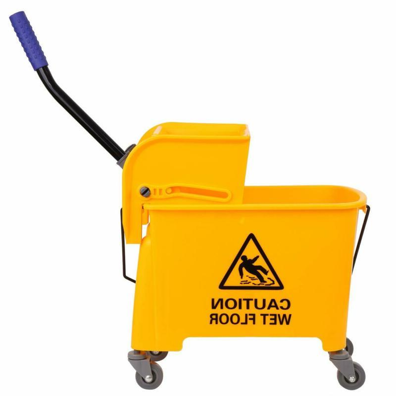 5 Gallon Mini Press Mop Bucket with Wringer Rolling Cart  20