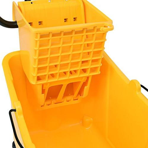 Goplus Commercial Mop w/ Capacity, Side Cleaning Caddy
