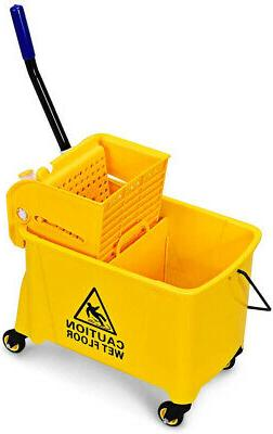 commercial mop bucket with wringer household portable