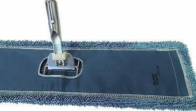 Blue Industrial Microfiber Dust Mop, Frame & Handle