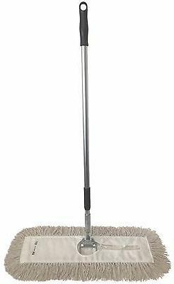 "Dust Mop Kit-18"" White Industrial Closed Loop Dust Mop, Wire"