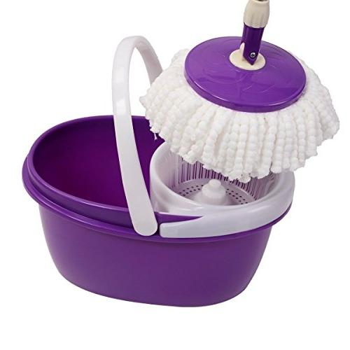 Easy Magic Mop 360° Bucket Heads Microfiber Spin Spinning Rotating Head