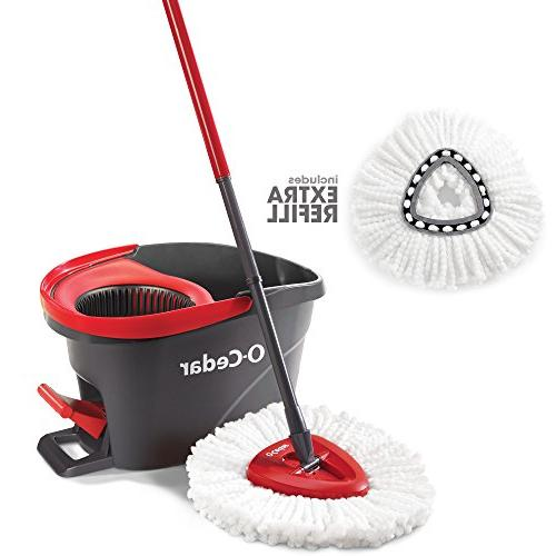 easywring microfiber spin mop bucket