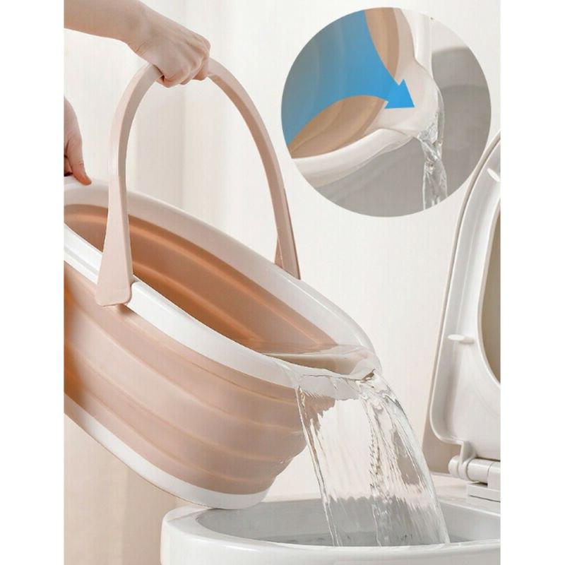 Foldable Portable Dishpan With Cleaning & Accessories