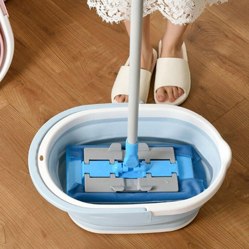 Foldable <font><b>Mop</b></font> Portable Wash With Handle Cleaning & Accessories