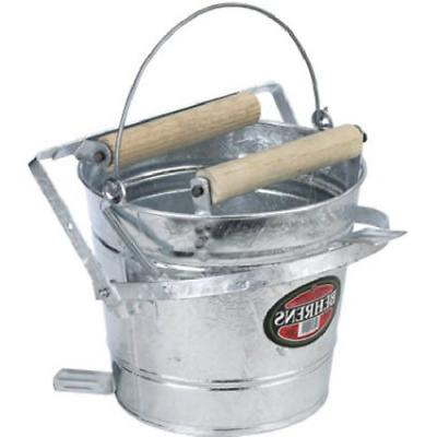 galvanized mop bucket with rollers 3 gallon