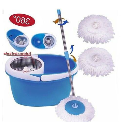 household cleaning wet mop wring bucket 360