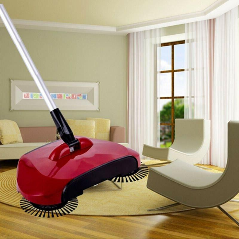spin hand push sweeper broom household floor